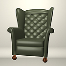 Dark Green Tufted Wingback. Has different surface names than the Plum Wingback.