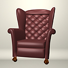 Plum Tufted Wingback. Has different surface names than the Green Wingback.
