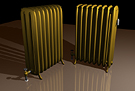 Bronzed 8 Cell Steam Radiator