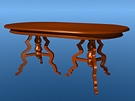 Victorian Dining Table. File includes a placemat.