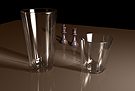 Faceted Water Glass & Tumbler